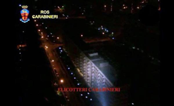 Immagine dall'elicottero dei Carabinieri