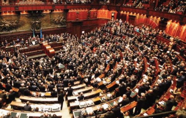 Camere riunite durante la votazione