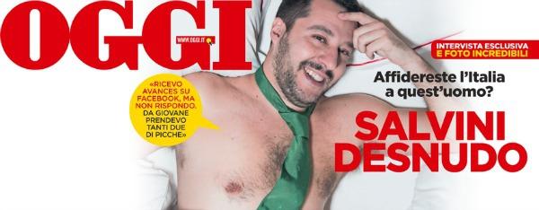 Salvini sulla copertina di Oggi