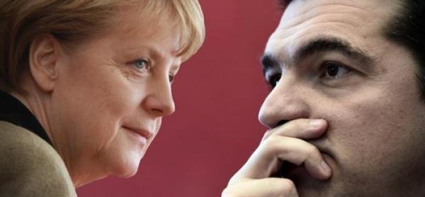 Angela Merkel e Alexis Tsipras