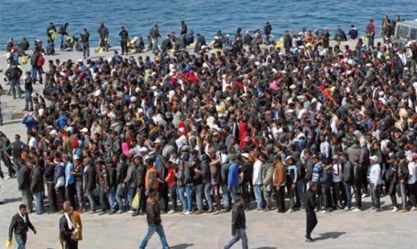Migranti libici a Lampedusa