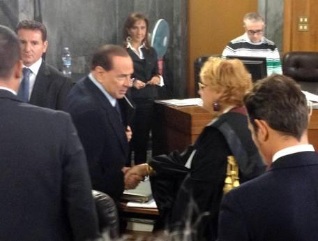 Berlusconi in aula