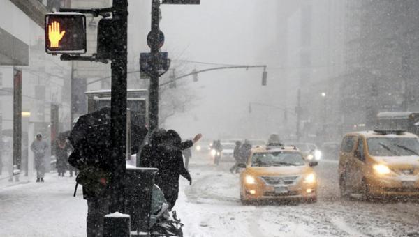 New York e la tempesta di neve