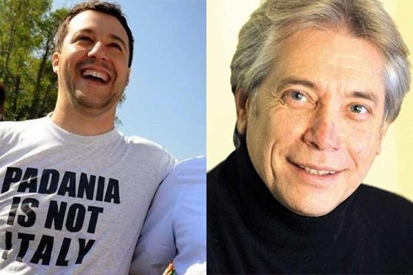 Matteo Salvini e Nino D'Angelo