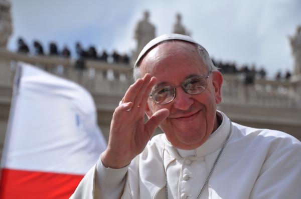 Saluto del Papa in Piazza San Pietro