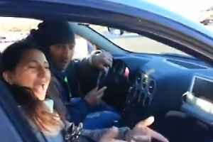 Un frame del video che ritrae i Rom al volante 1