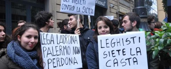 Salvini contestato a Palermo