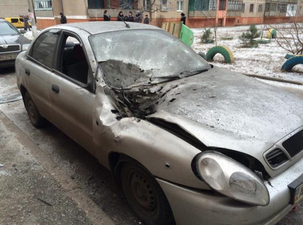 Auto danneggiata a Kramatorsk