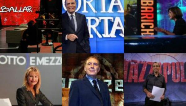 Ecco i volti dei principali talk show politici