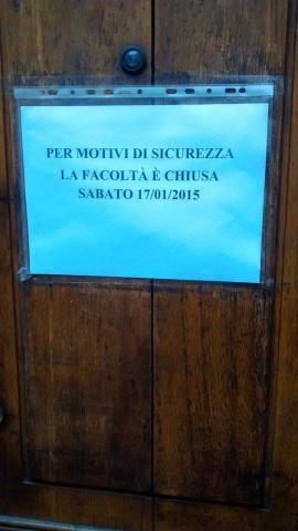 Chiusa facoltà Scienze Politiche all'Università di Milano