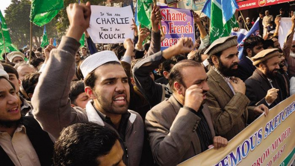 Jhadisti in protesta