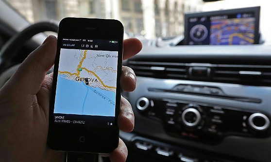 La protesta dei taxisti contro Uber 2