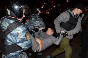 Una foto che testimonia la gravità degli scontri con le autorità russe