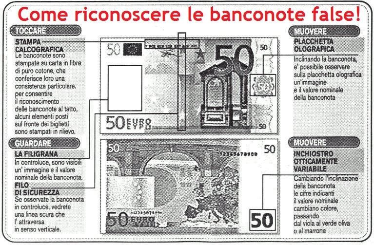 Consigli su come riconoscere le banconote false e le differenze con quelle autentiche
