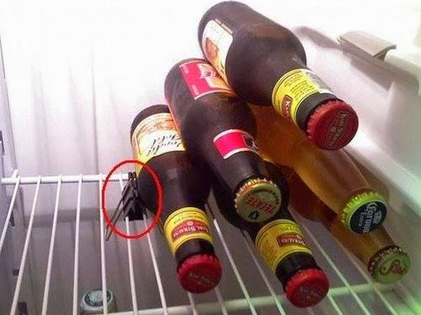 pinza da documenti per bottiglie