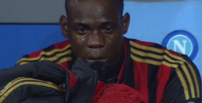 Balotelli piange