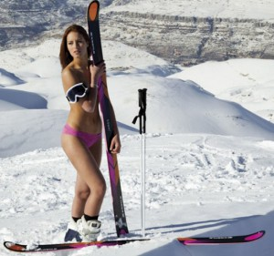 La sciatrice Jackie Chamoun