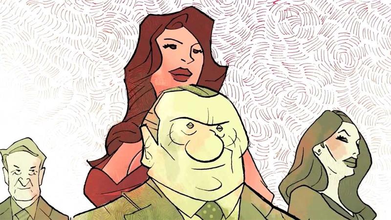 """Ruby Rubacuori e Silvio Berlusconi in versione """"fumetto"""""""