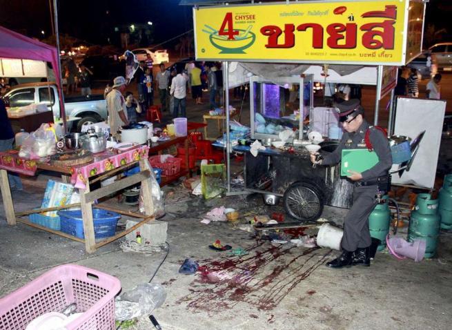 Attacco nella città di  Trat, in Thailandia