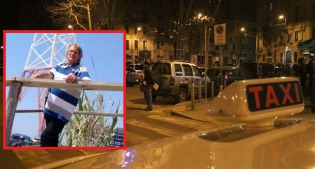 Alfredo Famoso (nel riquadro), il tassista vittima dell' aggressione subita a Milano