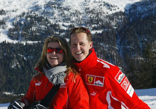 Michael Schumacher e sua moglie Corinna