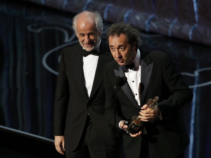 """Sorrentino e Servillo ricevono l' Oscar per """"La Grande Bellezza"""""""