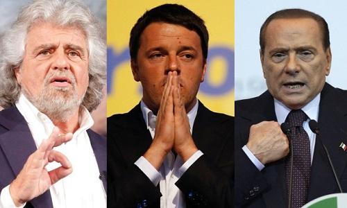 I tre partiti maggiormente quotati per le elezioni