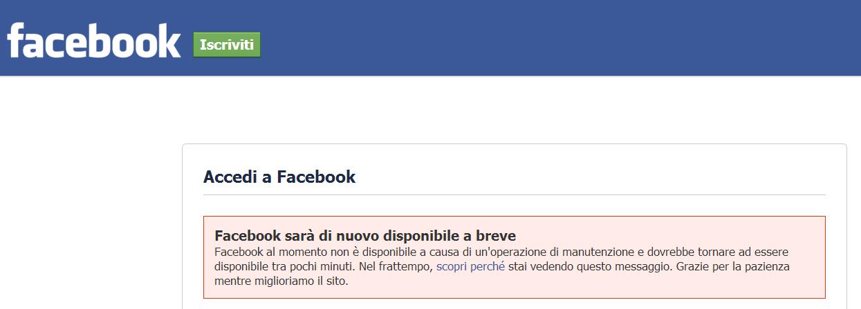Facebook Offline?