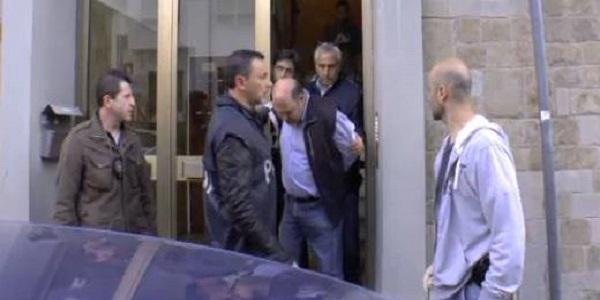 Riccardo Viti al momento dell' arresto