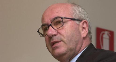 Il candidato alla presidenza Figc Carlo Tavecchio