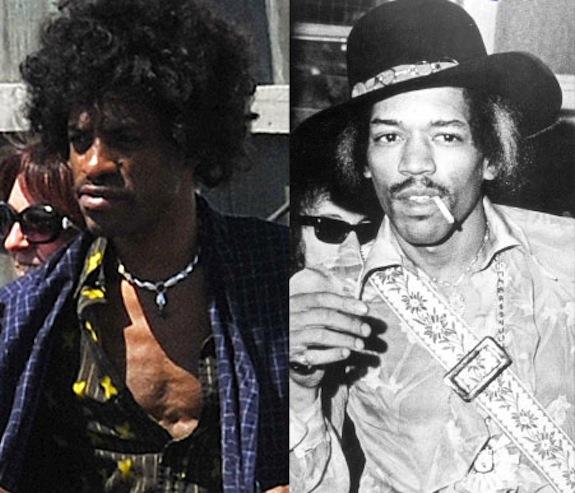 "André Benjamin veste i ""mitici"" panni di Jimi Hendrix"