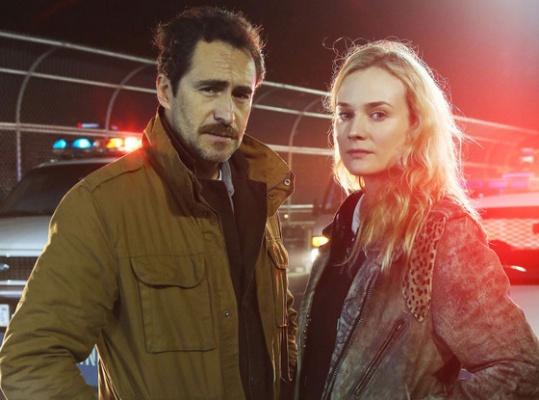 "Demian Bichir e Diane Kruger, protagonisti di ""The Bridge"""