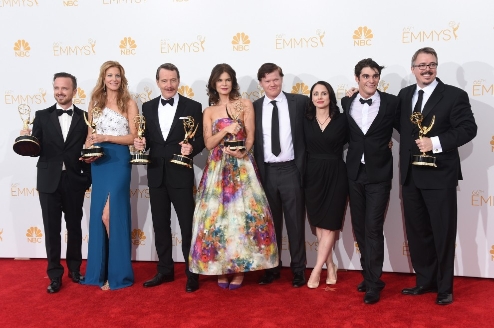 """Il cast di """"Breaking Bad"""", serie TV che ha fatto incetta di Emmy"""