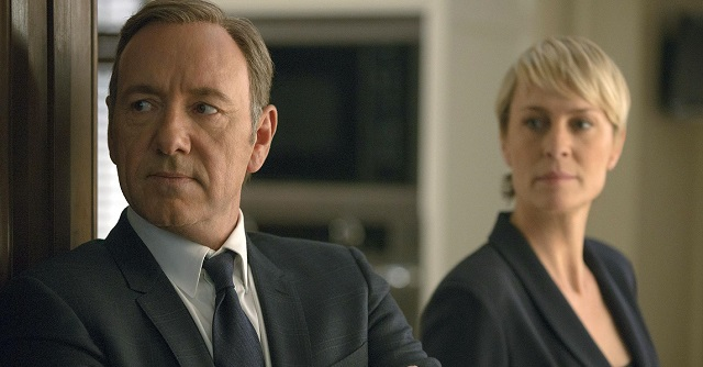 "Kevin Spacey e Robin Wright in ""House of Cards"""