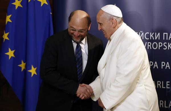 Il Papa con Martin Schulz
