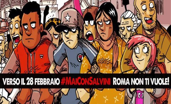#MaiConSalvini - la vignetta di Zerocalcare