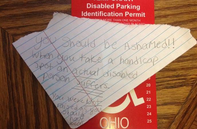Messaggio alla figlia disabile