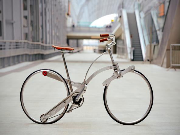 Bicicletta senza raggi