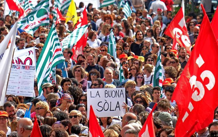 Proteste per la riforma della scuola
