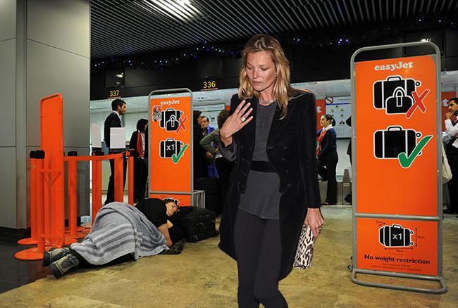 Kate Moss infuria contro l'Easyjet