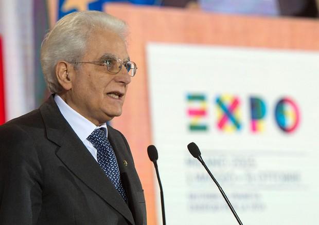 Mattarella interviene sulla questione del cibo all'Expo