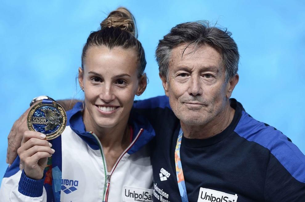 Tania Cagnotto con suo padre Giorgio