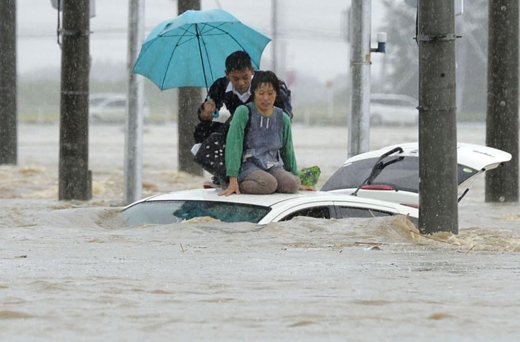 Giappone piogge torrenziali
