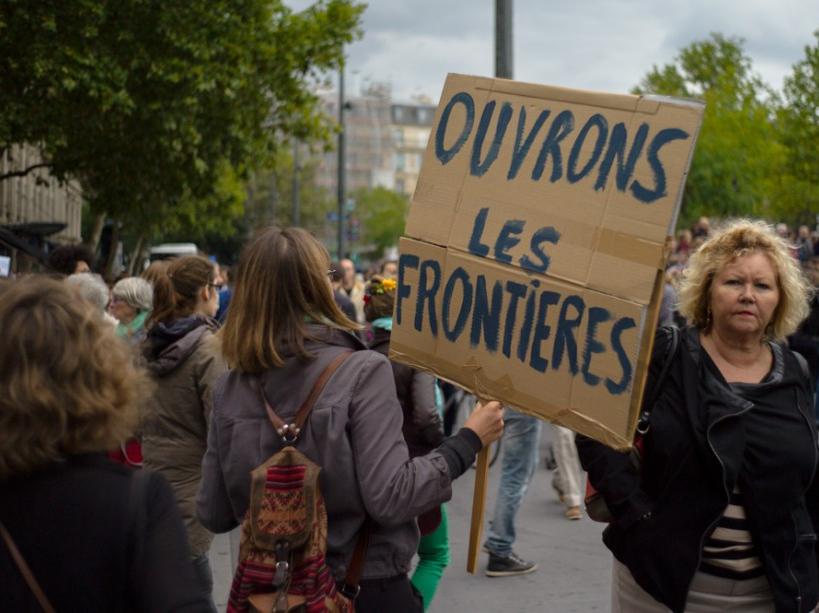 Manifestazione a sostegno dei migranti