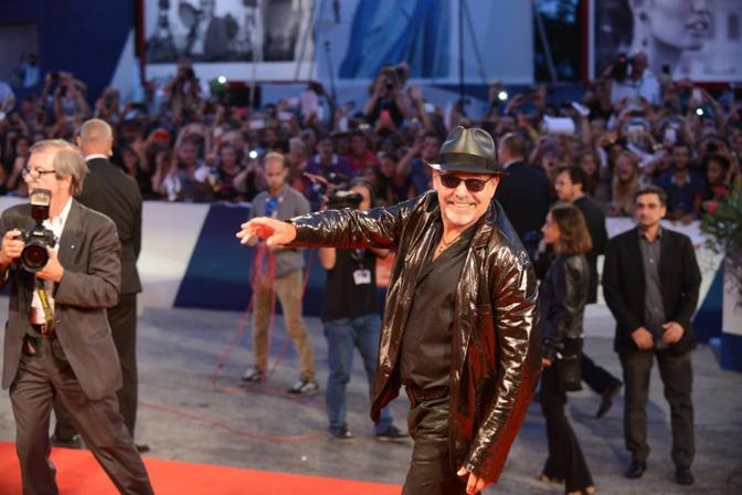 Vasco Rossi red carpet a Venezia