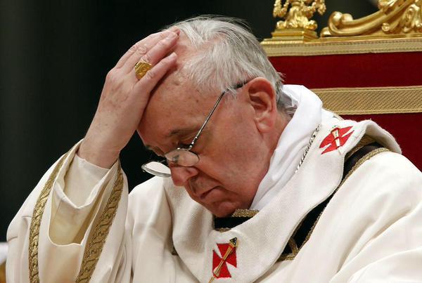 """Il """"mea culpa"""" del Papa"""