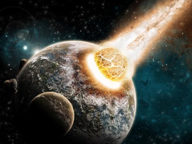 La collisione tra i due pianeti