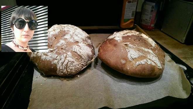 Zoe Stavri e il pane fatto da lei