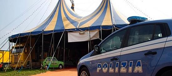 Polizia arresta titolari di circhi