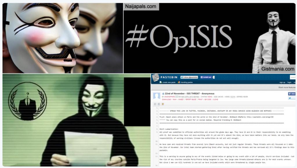 Anonymous lancia l'allarme Isis